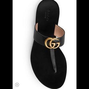 🎁Gucci Marmont T-Strap Sandal Size 38.5🎁